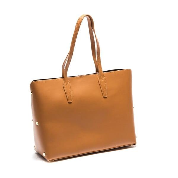 Hnedá kožená kabelka Sofia Cardoni Amelia