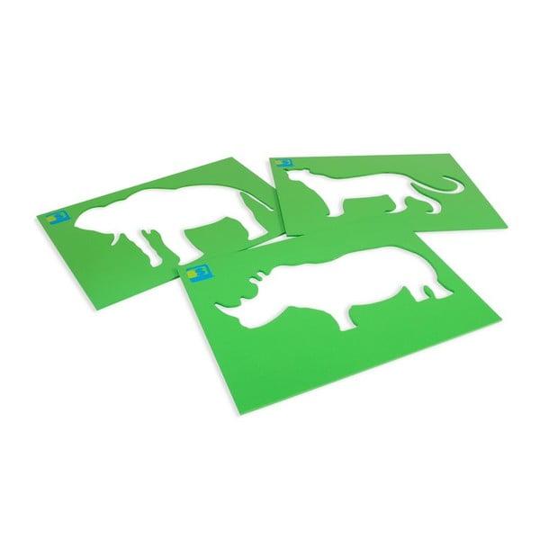 Zvieracie šablóny na kreslenie kriedou Animals