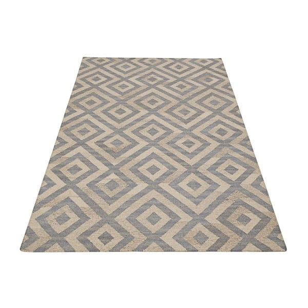 Vlnený koberec Bakero Luisa Blue/Natural, 140 x 200 cm
