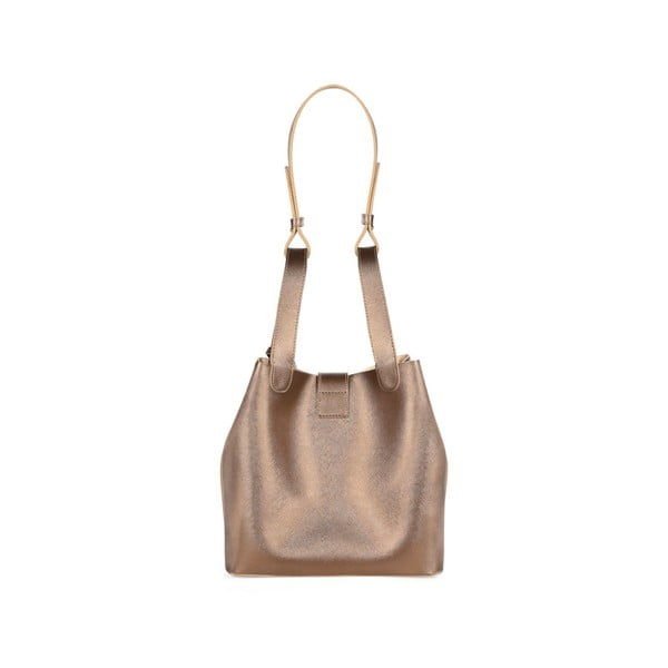 Kožená kabelka v medenej farbe Beverly Hills Polo Club Gina