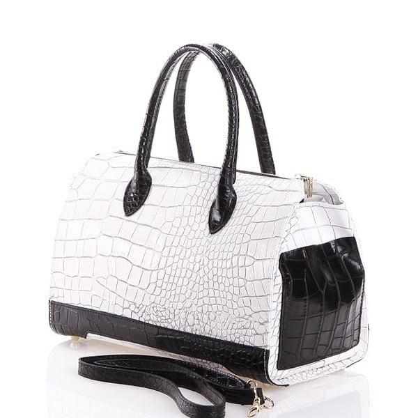 Kožená kabelka Livie, biela