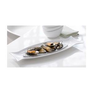Porcelánový servírovací tanier s mriežkou Capri
