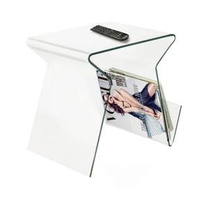 Sklenený odkladací stolík/stojan na časopisy Esidra Ra