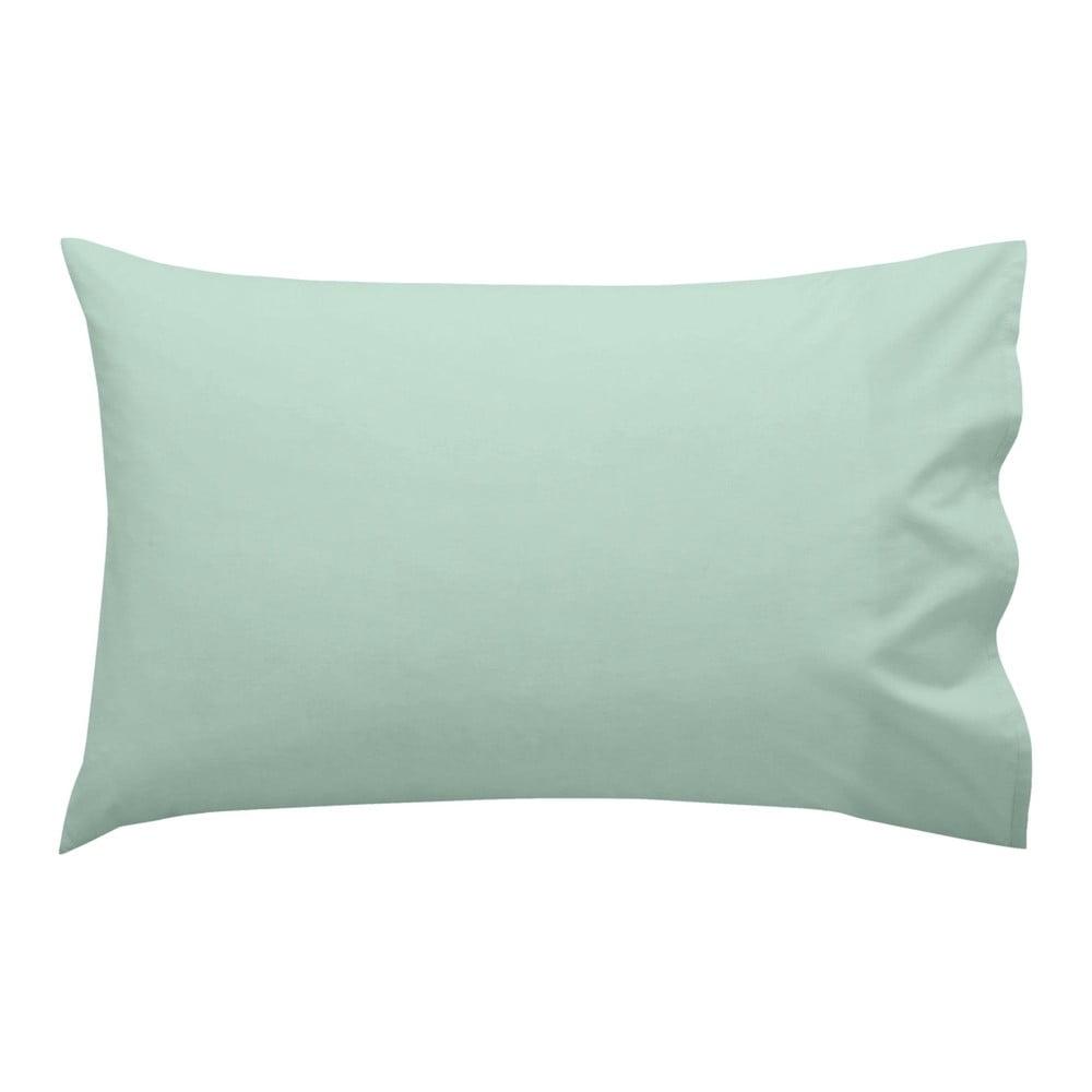 Svetlozelená bavlnená obliečka na vankúš Happy Friday Basic, 40 x 60 cm