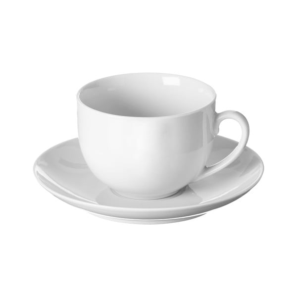 Biela šálka na čaj s tanierikom Price & Kensington Simplicity,180ml