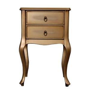 Odkladací stolík Viola Gold, 46x33x70 cm