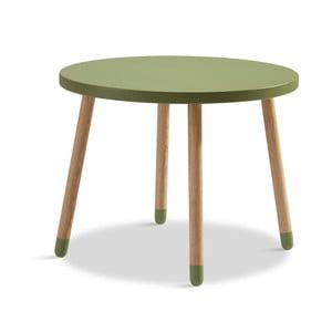 Zelený detský stolík Flexa Play, ø 60 cm