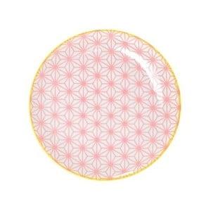 Malý ružový porcelánový tanier Tokyo Design Studio Star, ⌀ 16 cm
