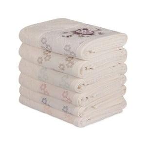 Sada 6 bavlnených uterákov Daireli Ruhno, 50×90 cm