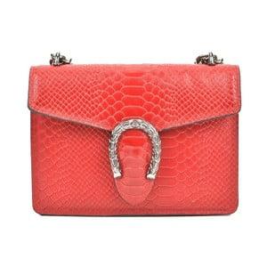 Červená kožená kabelka Renata Corsi Harno