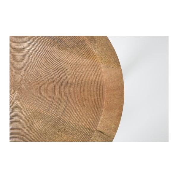 Odkladací stolík z mangového dreva Zuiver Dendron, Ø 43 cm