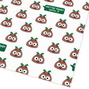 Vianočný baliaci papier Ohh Deer English Flat, 50 x 70 cm