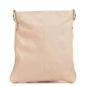 Béžová kožená kabelka Mangotti Bags Marisa