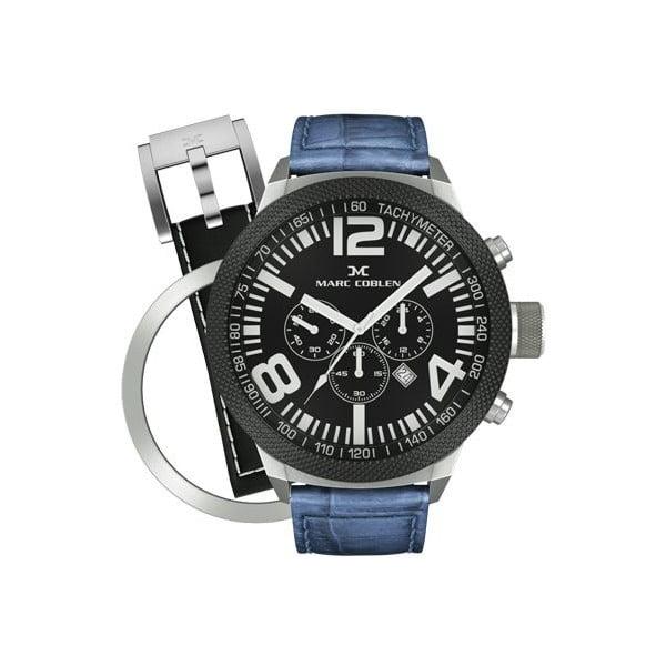 Pánske hodinky Marc Coblen s remienkom a ozdobou ciferníku naviac P20