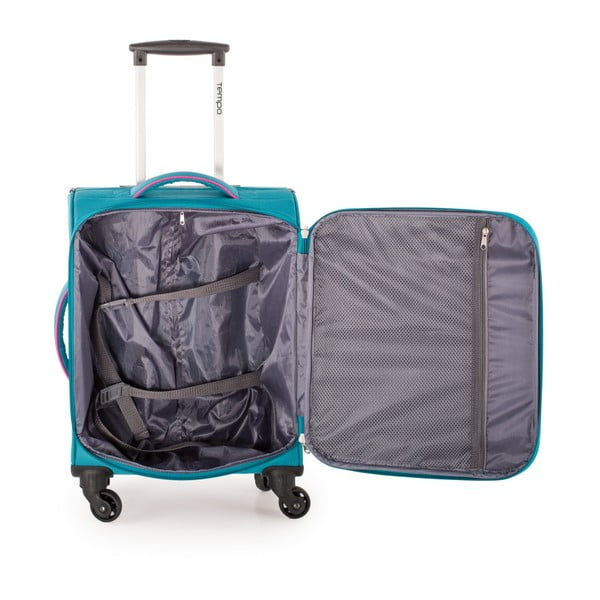 Set 3 cestovných kufrov Trolley Fuchsia