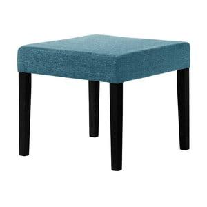 Tyrkysová stolička s čiernymi nohami Ted Lapidus Maison Pétale