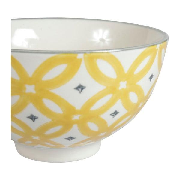 Sada 4 porcelánových misiek Flower, 11.5 cm