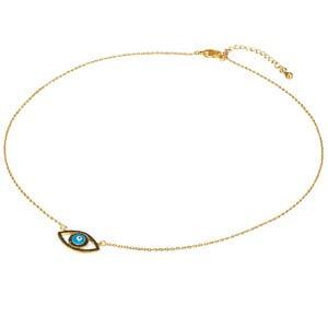 Dámsky náhrdelník zlatej farby s motívom oka Tassioni