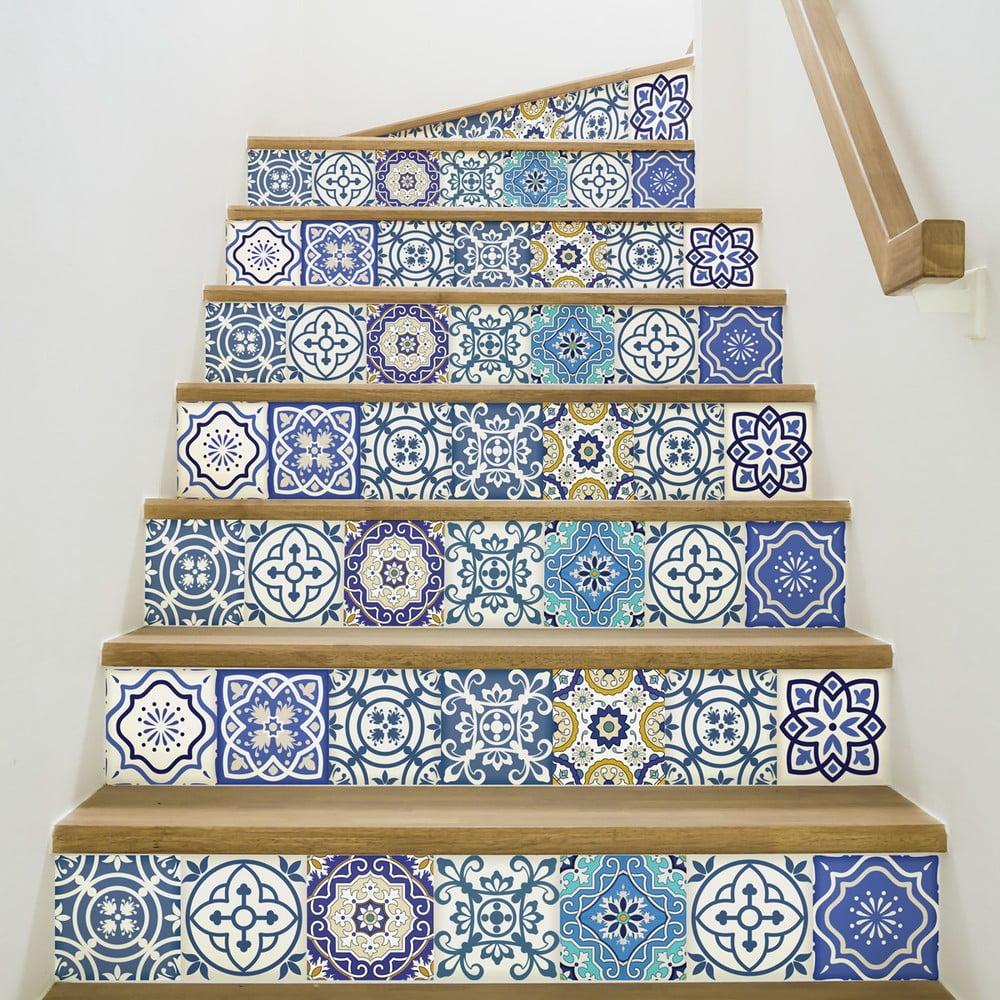 Sada 2 samolepiek na schody Ambiance Romina, 15 × 105 cm