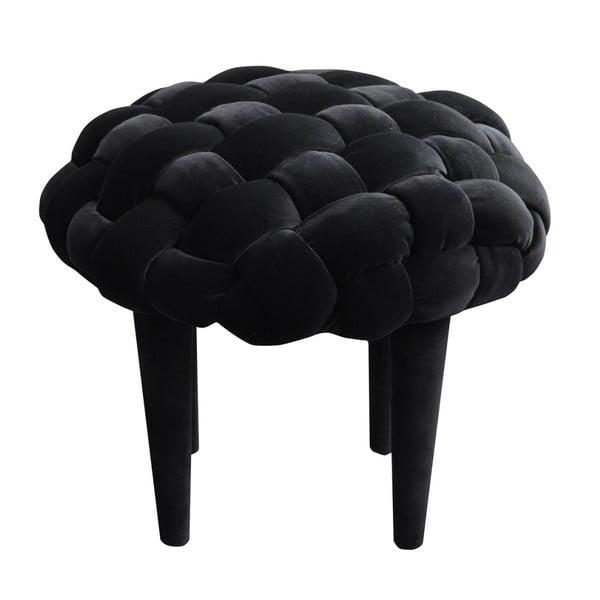 Stolička Happy Barok Berry, čierna