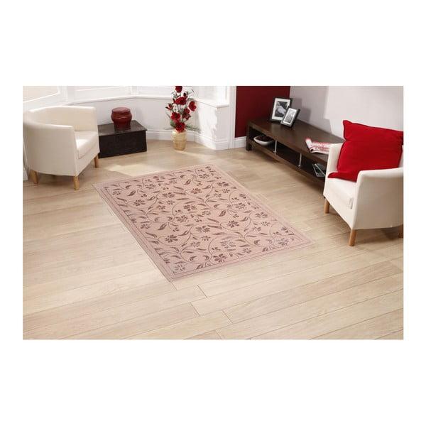 Ružový koberec Floorist Florist,80x300cm