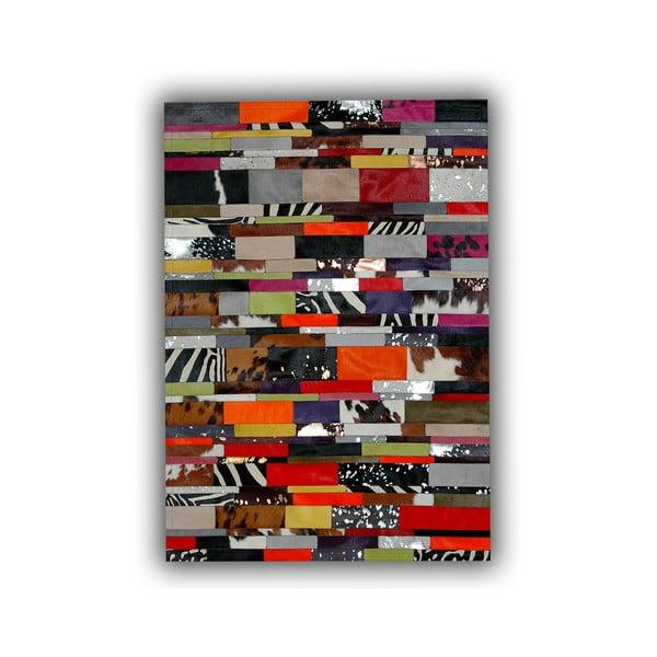 Koberec z pravej kože Stripes, 140x200 cm