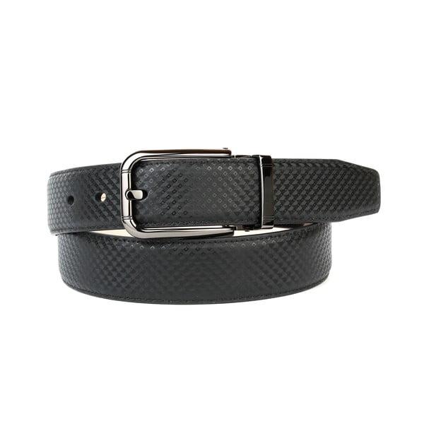 Pánsky kožený opasok 3PB10S Black, 90 cm