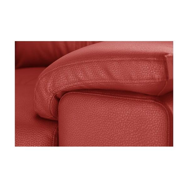 Červená rohová pohovka Corinne Cobson Home Babyface, ľavý roh