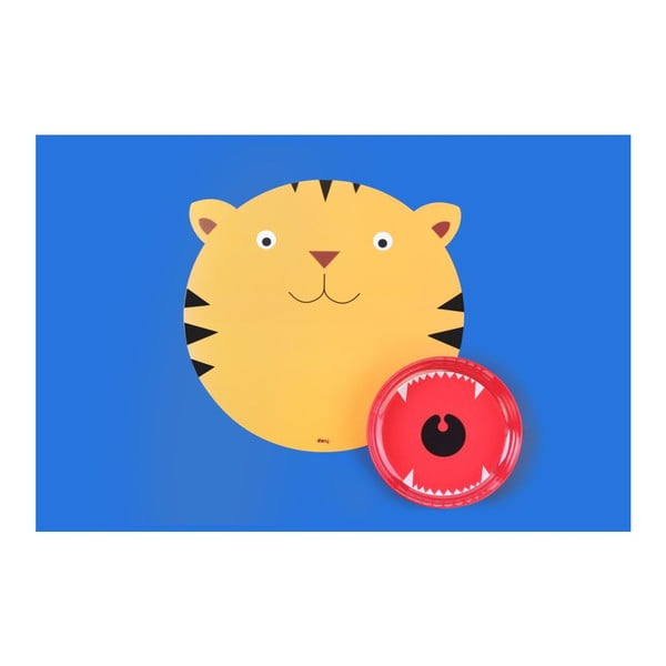 Sada prestierania a taniera DOIY Hungry Tiger