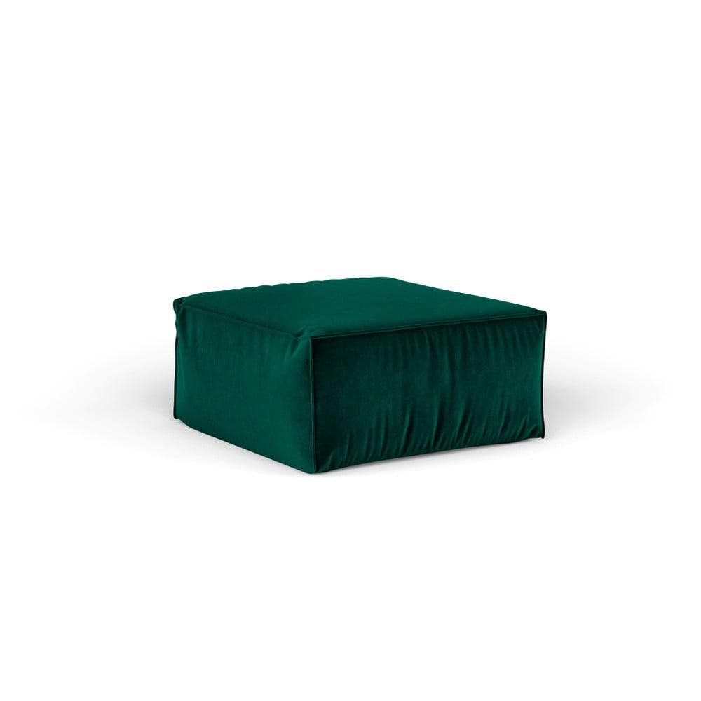 Tmavozelený puf Cosmopolitan Design Florida, 65 × 65 cm