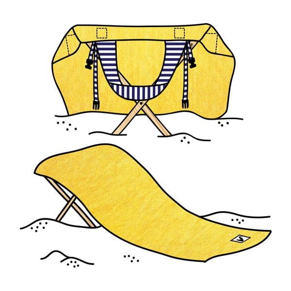 Skladacie plážové lehátko a osuška v jednom Sun Seat Banana