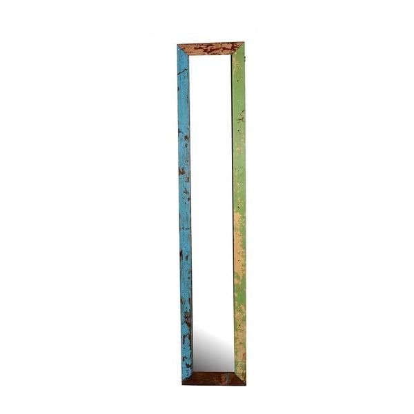Zrkadlo Orient 29x120 cm, farebná patina