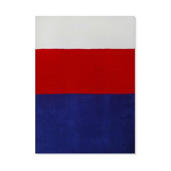 Detský koberec Mavis Blue and Red Stripes, 100x150 cm