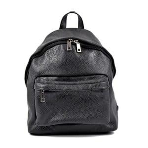 Čierny kožený dámsky batoh Roberta M Rahna