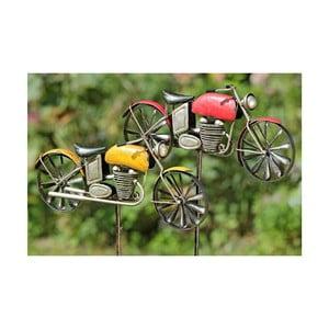 Sada 2 záhradných dekorácií Motorbike, 160 cm