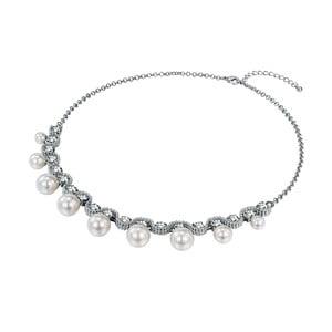 Dámsky náhrdelník striebornej farby Runway Pearls