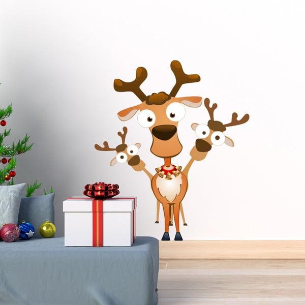 Vianočná samolepka Ambiance Noel Les Rennes Malicieux