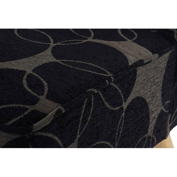 Kreslo Vaasa Grey/Black, čierno- sivý textilný poťah