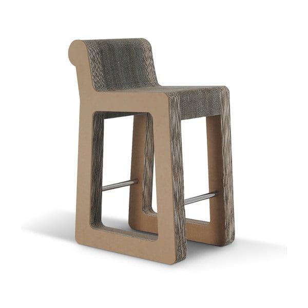 Barová kartónová stolička Knob Stool Natural