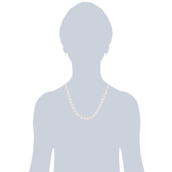 Náhrdelník s bielymi perlami⌀8 mm Perldesse Muschel, dĺžka 50 cm