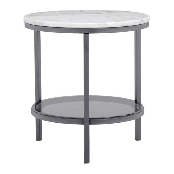 Mramorový odkladací stolík so sivou konštrukciou RGE Ascot, ⌀ 50 cm