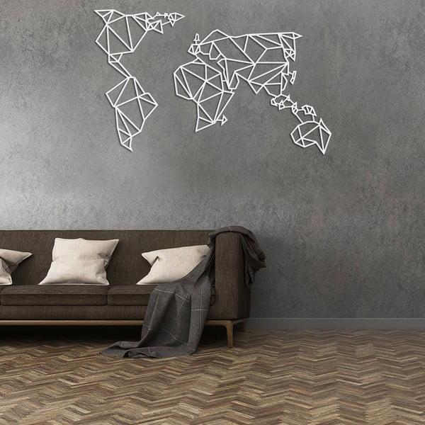 Biela nástenná kovová dekorácie Wall Decor World