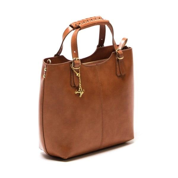 Kožená kabelka Luisa Vannini 3006 Cognac