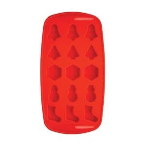 Červená forma na ľad Kitchen Craft Ice Cube Tray
