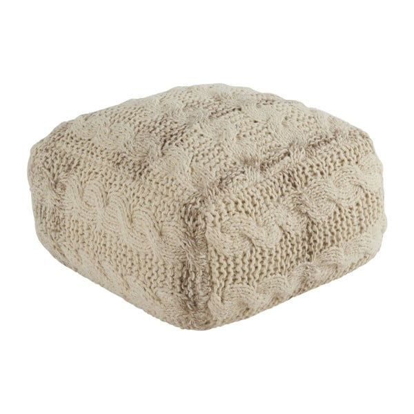 Béžový puf Athezza Wool