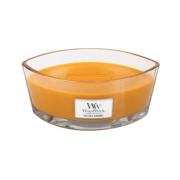 Vonná sviečka WoodWick Morská soľ a karamel, 453 g, 50 hodín