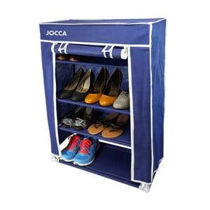 Modrý textilný úložný box na topánky JOCCA, 80×60 cm