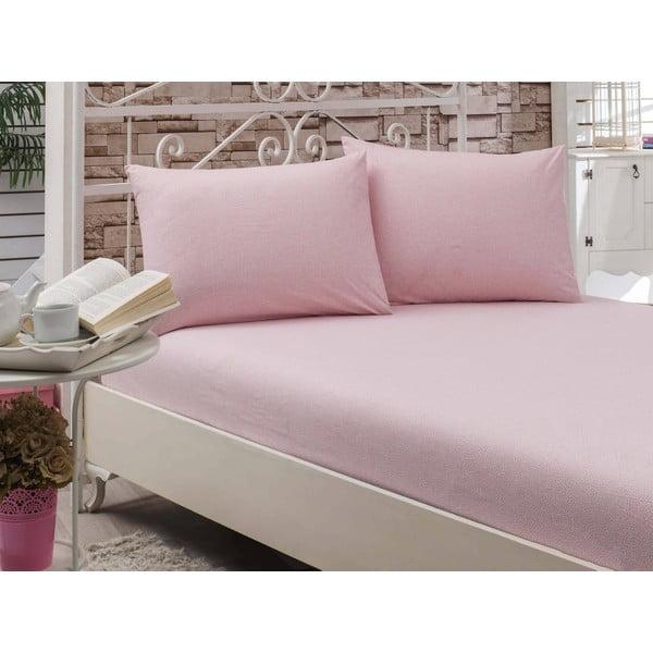 Prestieradlo Circle Pink, 160x200 cm