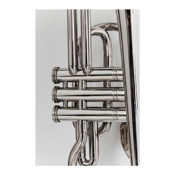 Nástenný vešiak v striebornej farbe Kare Design Trumpet Jazz
