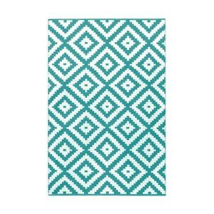 Tyrkysovo-sivý obojstranný koberec vhodný aj do exteriéru Green Decore Ava Malo, 120 × 180 cm
